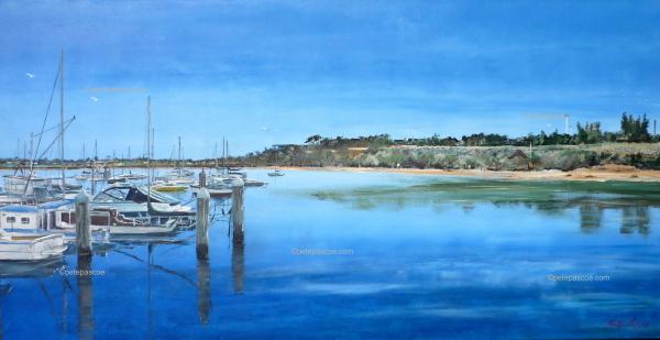 1. Sandringham Yacht Club - Blue Print of Acrylic Painting