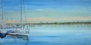 11. Sandringham Yacht Club 3 Boats -cool blue
