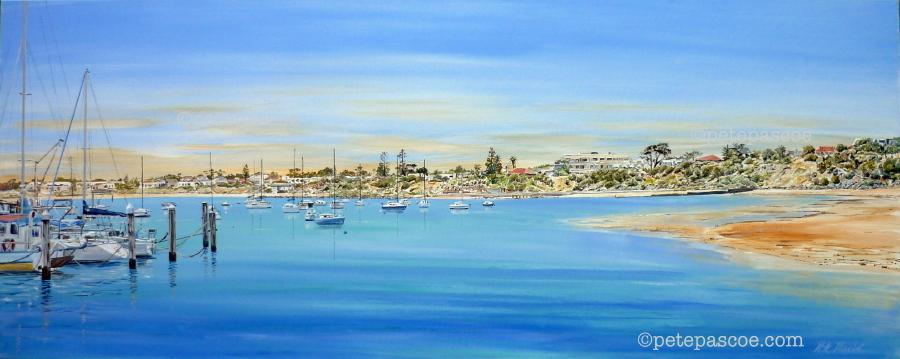 83. A Dog Beach and Yachts Hampton wp ©PetePascoe